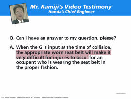 Mr. Kamiji'ideo Testimony graphic