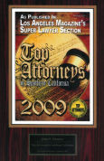 Los Angeles Magazine Super Lawyers Top Attorneys 2009, John F. Denove