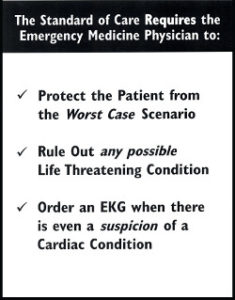 Standard of Care ER Physical Requirements